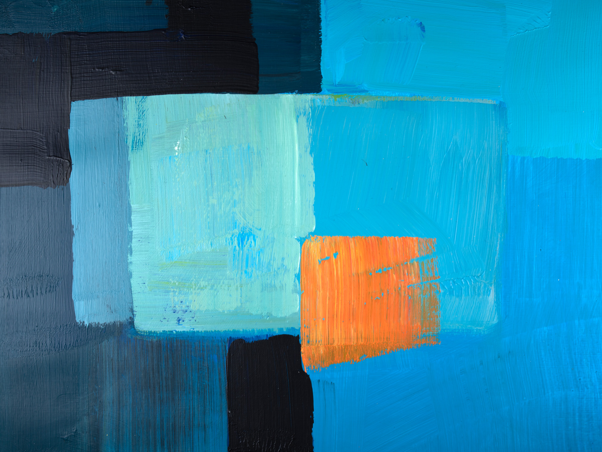 Blue Gray and Orange 1119 2845, 30x40, © Ernest Bisaev