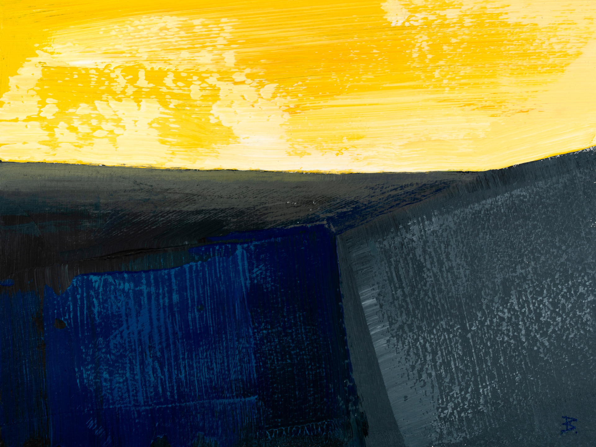 Blue Gray and Yellow 10220 3, 24x32, © Ernest Bisaev