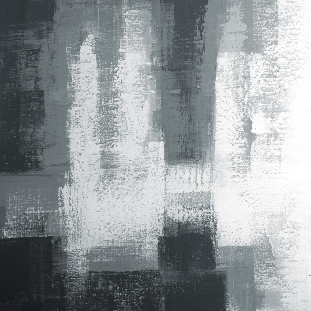 Diptych Black and White 07102002, Acrylfarbe auf Leinwand, 100 x 100 CM., 2020, © Ernest Bisaev