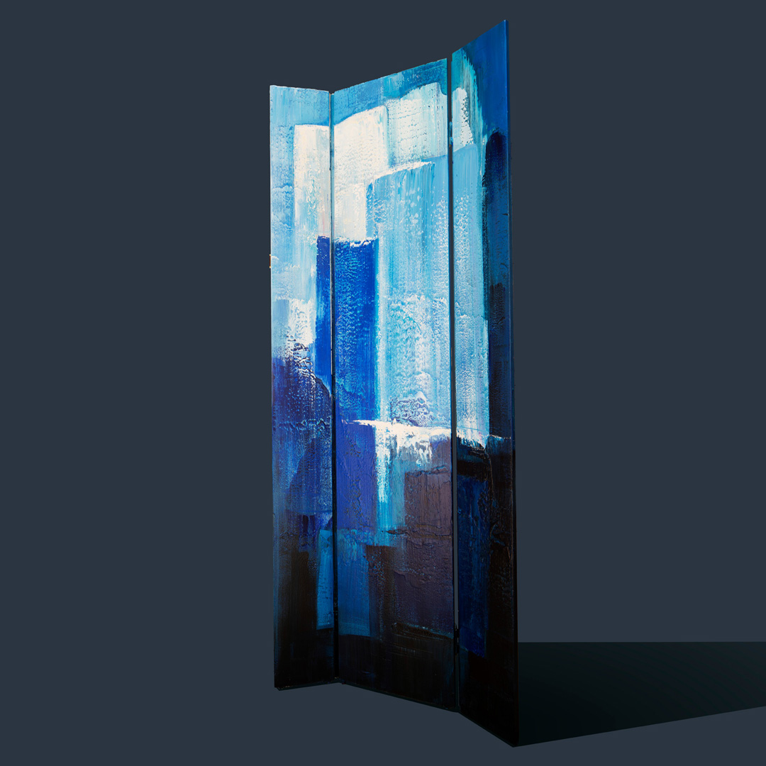 Blue 310320, Screen, 80x200 Acrylic on Wood © Ernest Bisaev